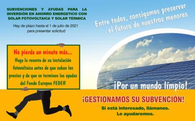 AYUDAS PARA INVERSIONES DE GENERACIÓN DE ENERGÍA ELÉCTRICA CON FUENTES DE ENERGÍA RENOVABLE